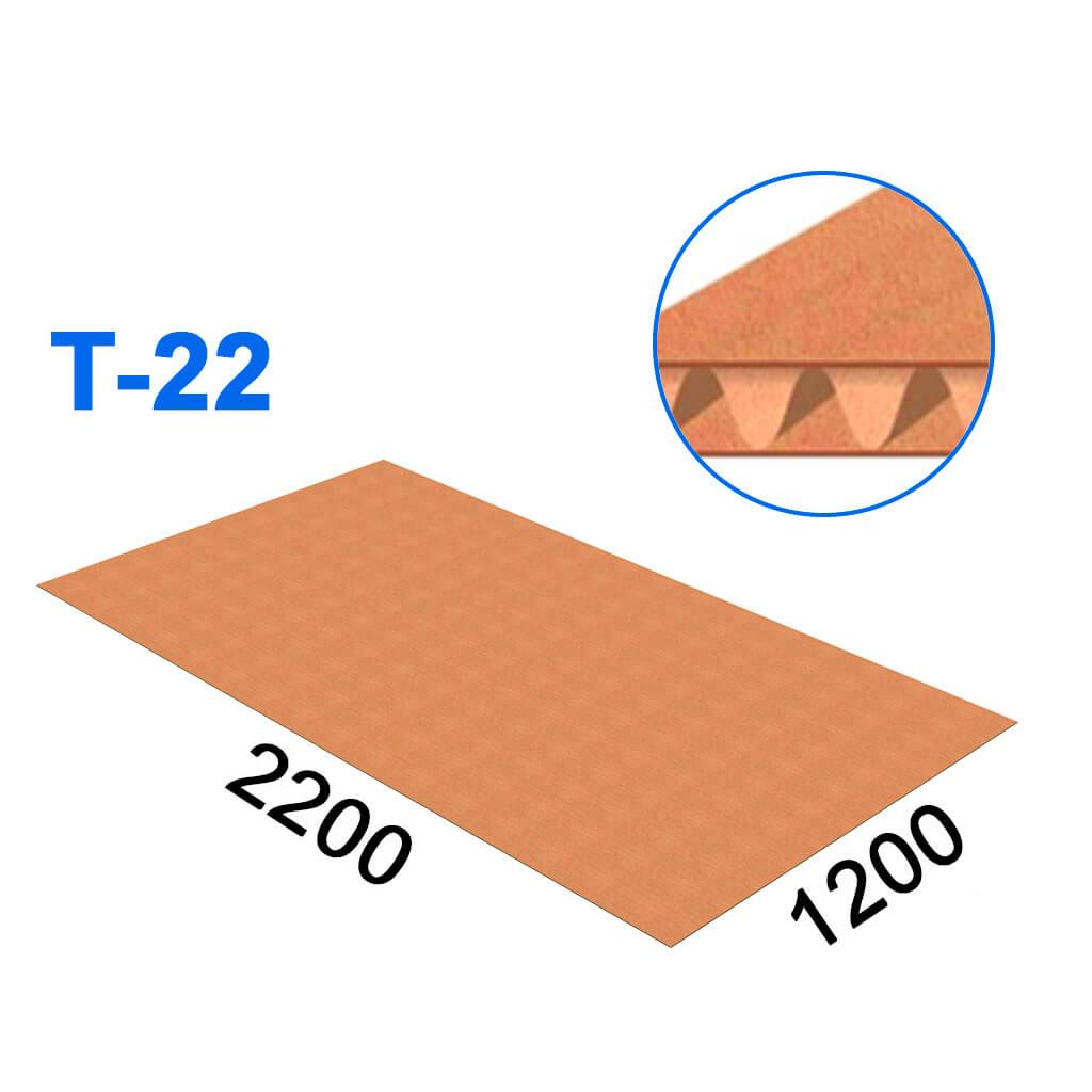Гофрокартон трехслойный 2200*1200 (Т-22)