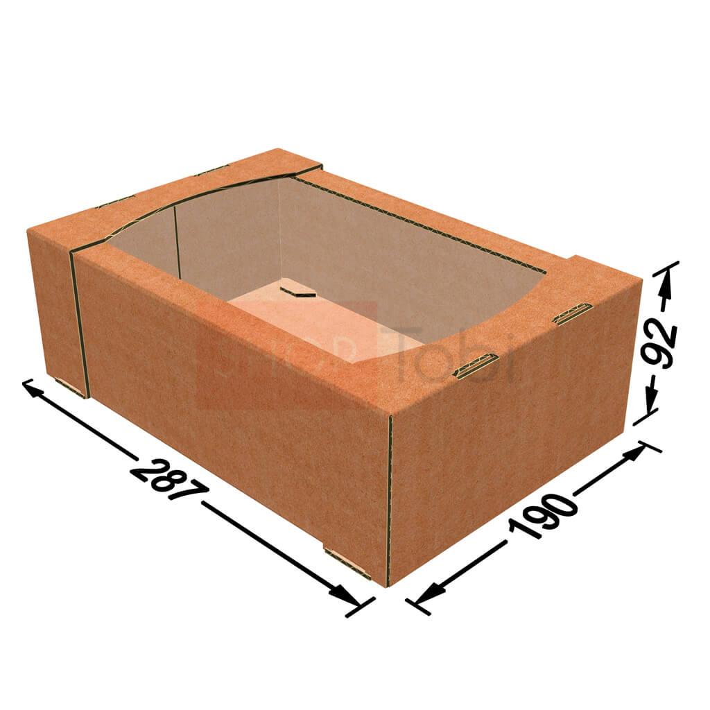 Коробка кондитерська (екран) 287*190*92