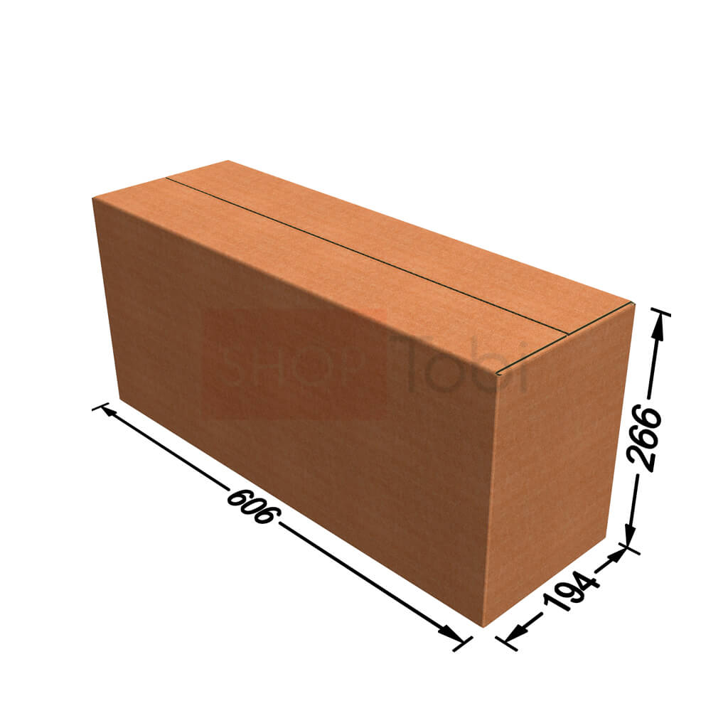 Картонная коробка / Гофроящик 606*194*266 (С ЛОГОТИПОМ)